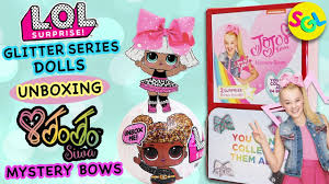 bags with bows on them lol glitter series dolls jojo siwa mystery bows