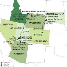 National Parks In Colorado Map by Map Map Western Us National Parks