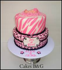 baby shower cakes for a zebra print pink zebra and leopard