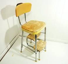 kitchen step stool chair vintage kitchen retro chair bar step