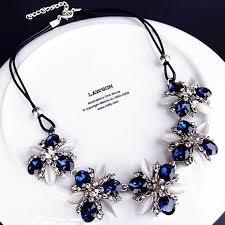 new necklace styles images 2017 new styles fashion jewelry navy blue crystal cat 39 s eye shiny jpg