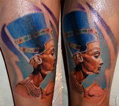 queen nefertiti tattoo 17