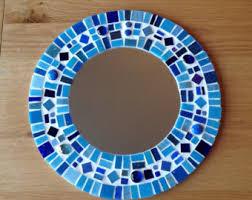 Mosaic Bathroom Mirrors by Blue Mosaic Mirror Rectangular Mirror Bathroom Decor Mirror