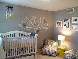 Yellow Gray Nursery Decor Baby Room Amazing Gray Themed Baby Nursery Room Design With