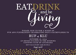 fundraiser invitation eat drink and be giving fundraising