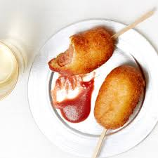 mini corn dogs with cranberry mustard recipe myrecipes