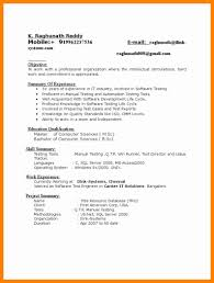 Software Tester Resume 100 Sample Testing Resumes For Manual Testing Pay To Write