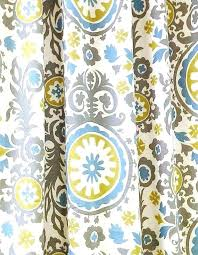 Yellow And Blue Curtains Yellow Floral Curtains Clame Co