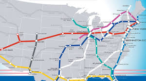 Amtrak Route Map Usa by Us Railroad Map Us Railway Map Usa Rail Map For Routes Bnsf