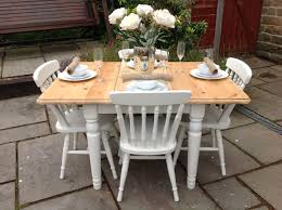 White Shabby Chic Dining Table And Chairs Shabby Chic Pine Extending Dining Kitchen Table Ducal 4 White