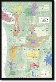 wine map of the pacific northwest oregon washington and