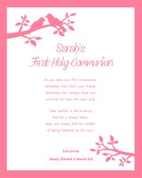 Holy Communion Invitation Cards Girls First Holy Communion Print Design 2