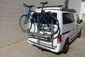 nissan leaf bike rack nissan nv200 recon camper van review
