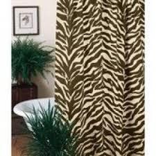 brown zebra shower curtain foter