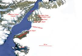 Greenland Map Remote Air Strips In North Greenland Icy Seas