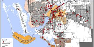 Fort Myers Florida Map by Cape Coral Fort Myers Area Most Dangerous In U S For Pedestrians