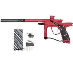 j t impulse paintball marker red black