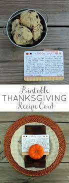 printable thanksgiving recipe cards oh my creative
