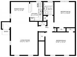 Simple Floor Plan Samples by Free Printable House Plans Valuable Design 15 Style With Open