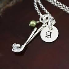 Sterling Silver Personalized Necklaces Golf Necklace Sterling Silver Personalized Necklace Golf And
