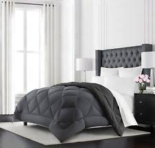Black And White Comforter Full Hotel Collection Comforters And Bedding Set Ebay