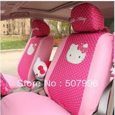pink pink bow kitty car seat cover car interior
