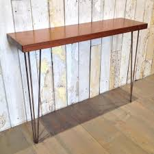 hairpin leg console table teak console table the architectural forum