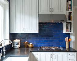 blue kitchen tile backsplash blue backsplash houzz