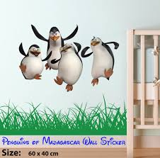 wall decals stickers home decor home furniture diy penguins of madagascar kids bedroom wall stickers art decal