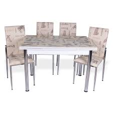 gozde extendable dining table set hannah concept