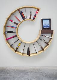 wall bookcase modern shelf interior design small home bookshelves