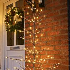 1 6m snow covered twig tree with 160 warm white leds