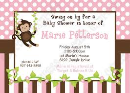 colors exquisite sock monkey baby shower invitation template