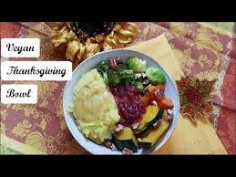 easy vegan thanksgiving bowl