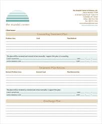 Counseling Treatment Plan Goals 21 Treatment Plan Exles