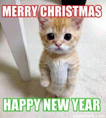 Happy New Year Cat Meme - meme creator merry christmas happy new year meme generator at