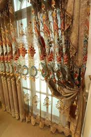 luxury double side jacquard designs automatic beautiful curtain