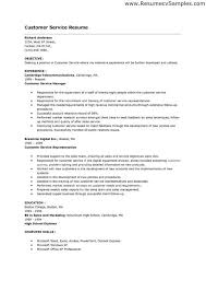 examples of resumes for customer service customer service manager
