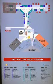 Maps Dallas by Dallas Love Field Map Dallas Love Field Airport Map Texas Usa