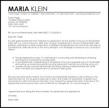 ideas collection cover letter accounts receivable manager about