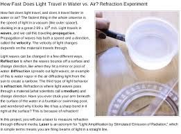 how fast does light travel in water vs air sumber belajar seamolec