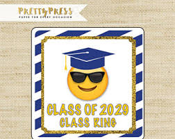 personalized ring pops emoji graduation etsy