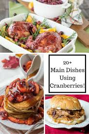 Main Dish Recipies 20 Main Dishes Using Cranberries Major Hoff Takes A Wife