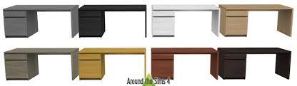 bureau malm around the sims 4 custom content objects ikea desks