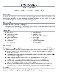 Sample Web Designer Resume by Web Designer Sample Resume Web Designing Freelance Resume Sales