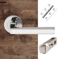 Bathroom Door Handles Chrome Bathroom Handle And Latch Or Lock Pack Bathroom Door