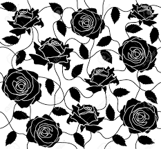 Black Rose Flower The Seamless Of A Black Roses And Leafs Royalty Free Cliparts