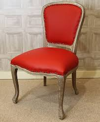 Red Leather Dining Chair Leather Dining Chair Upholstered French Style