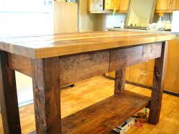Unfinished Wood Kitchen Island Solid Wood Kitchen Island En Rolling Table Unfinished Wooden