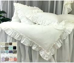 Ruffle Duvet Cover Full Vintage Ruffle Duvet Cover From Full Bloom Cottage White Ruffle
